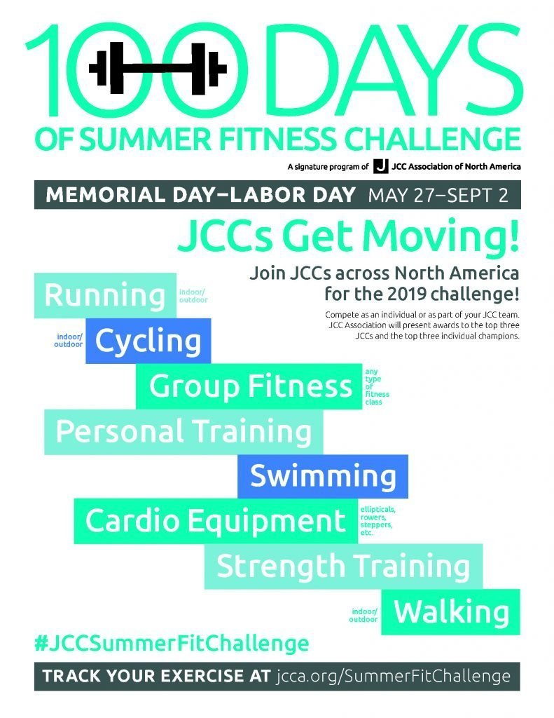 100 Days of Summer fitness challenge going on now! - Jewish